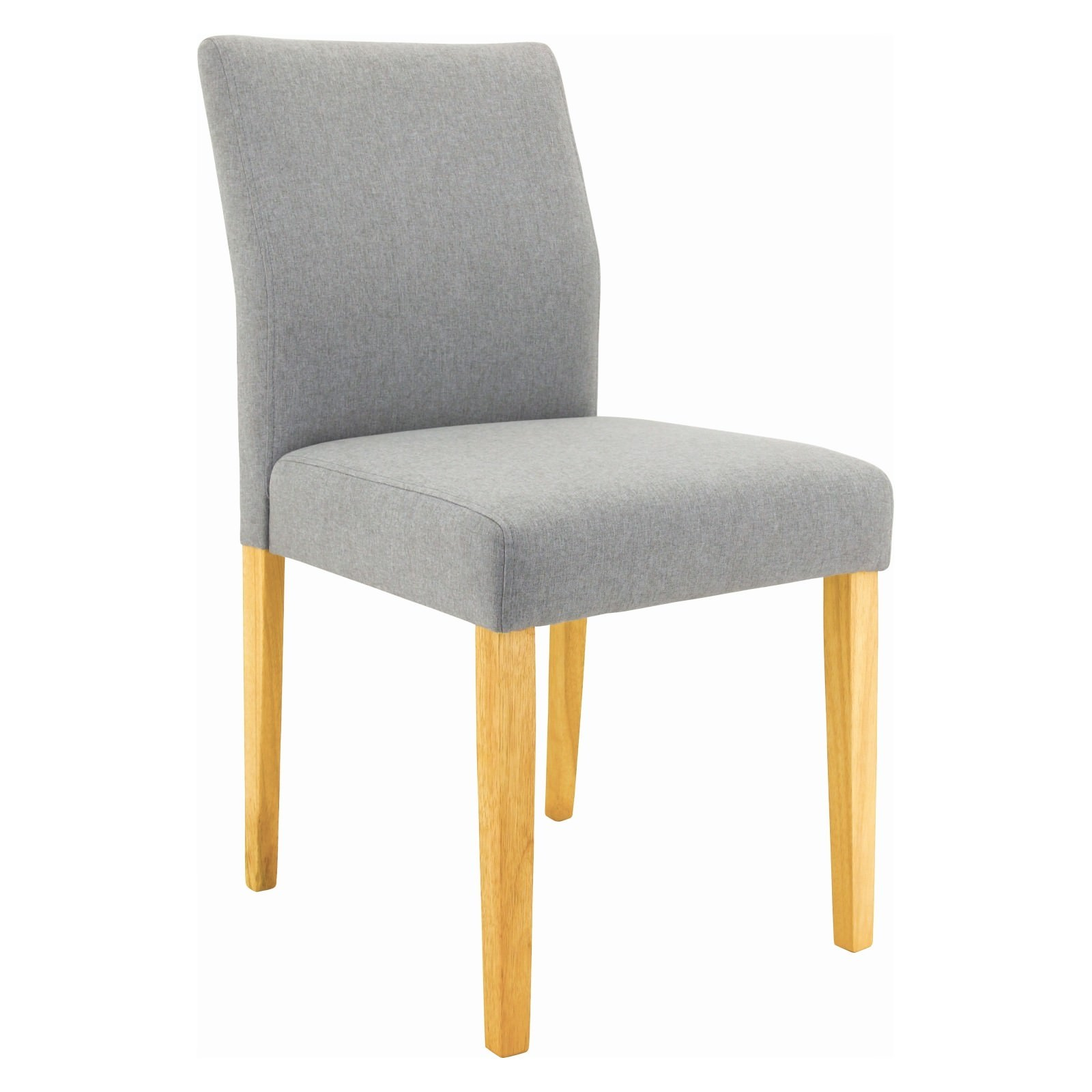 Ladee Fabric Dining Chair, Light Grey / Natural