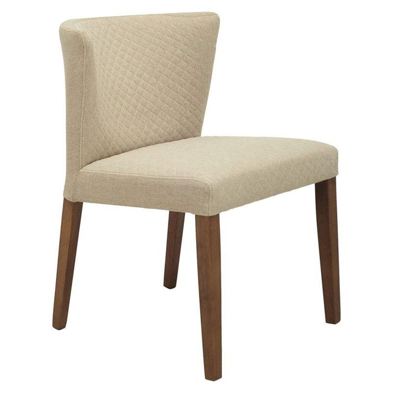 Rhoda Commercial Grade Fabric Dining Chair, Citrine / Cocoa
