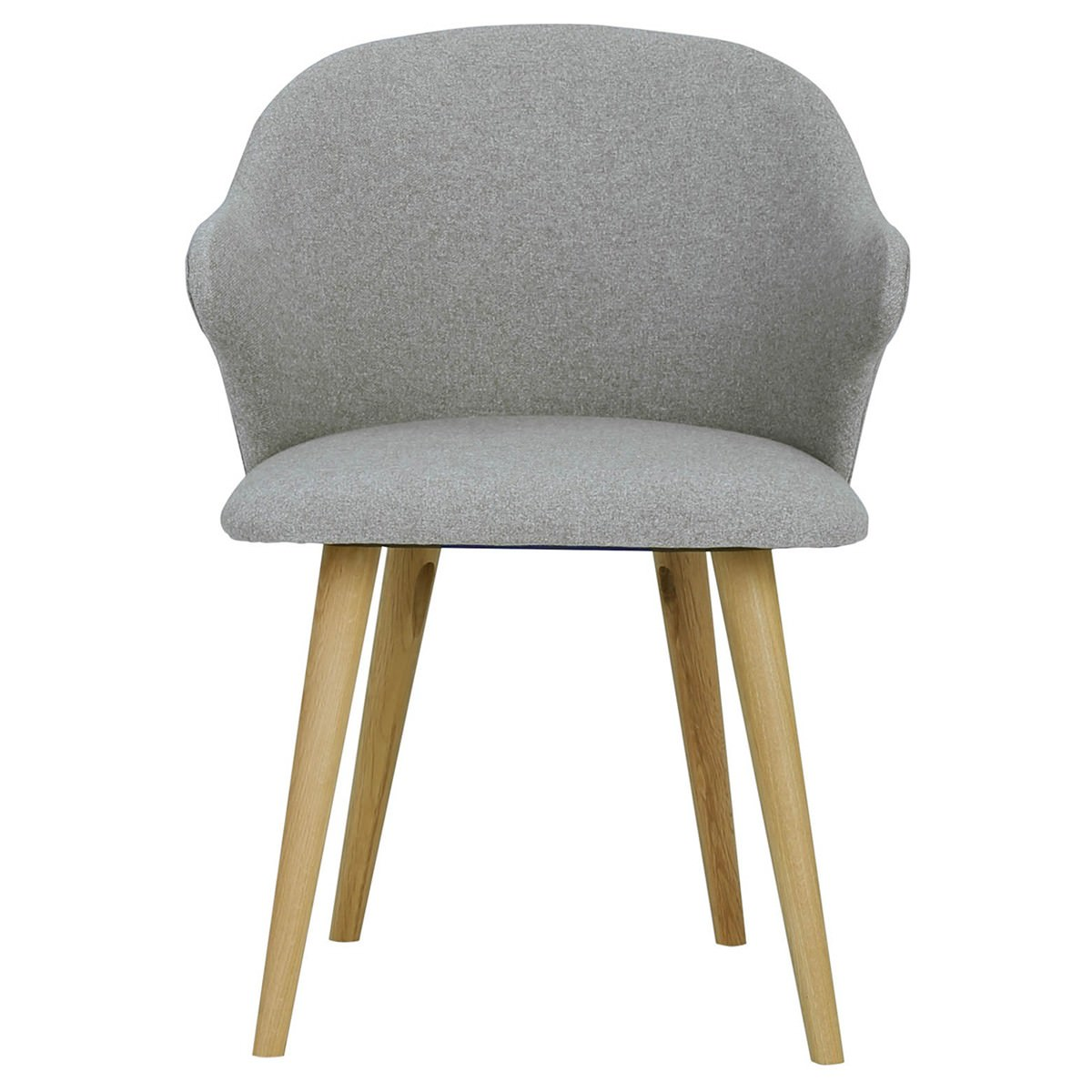 Ceyla Fabric Dining Chair, Light Grey / Oak