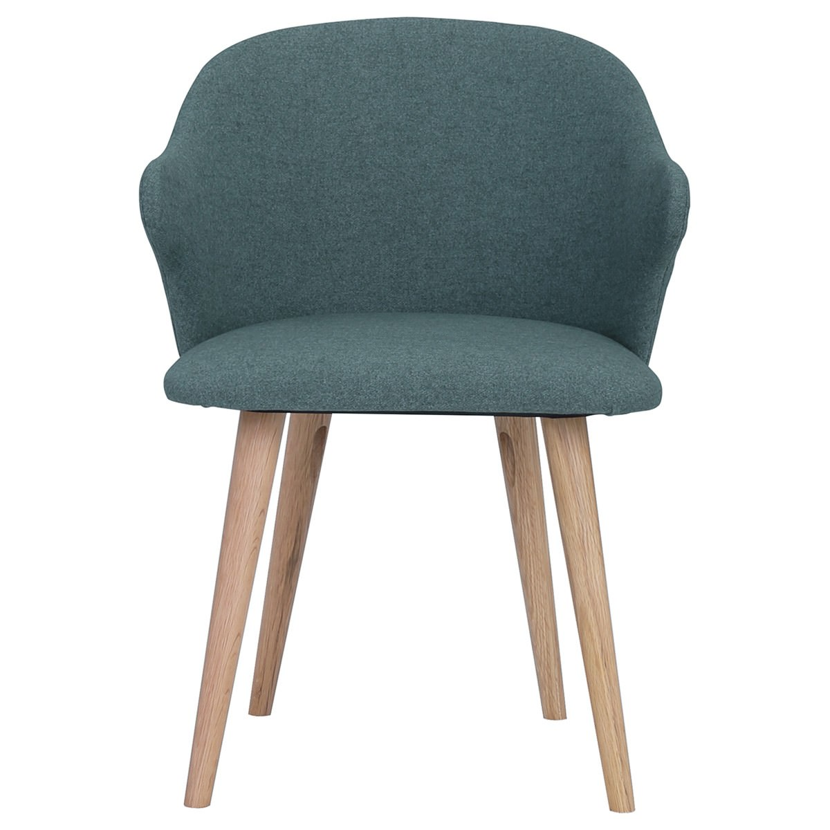 Ceyla Fabric Dining Chair, Jade / Oak