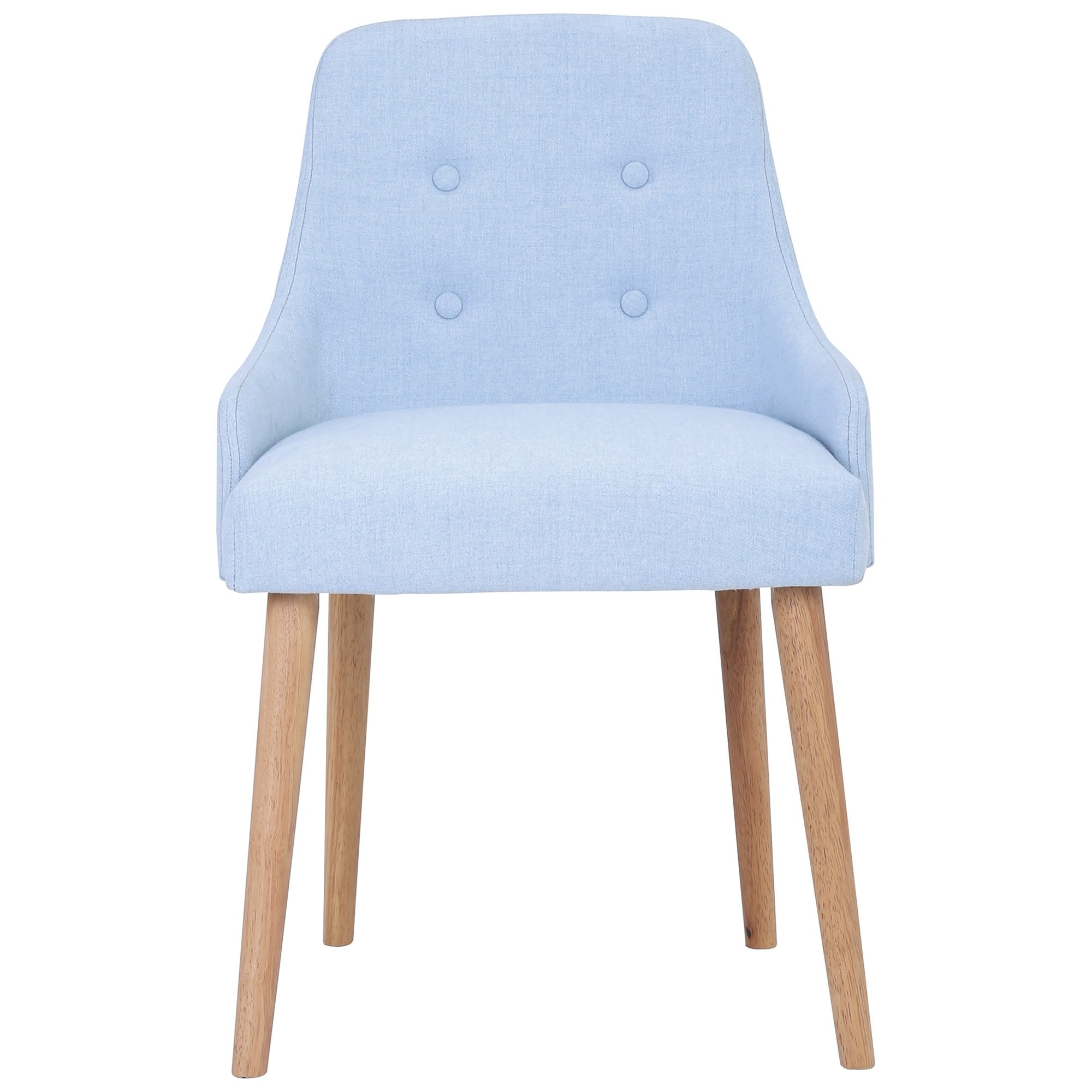 Caitlin Fabric Dining Chair, Pale Blue