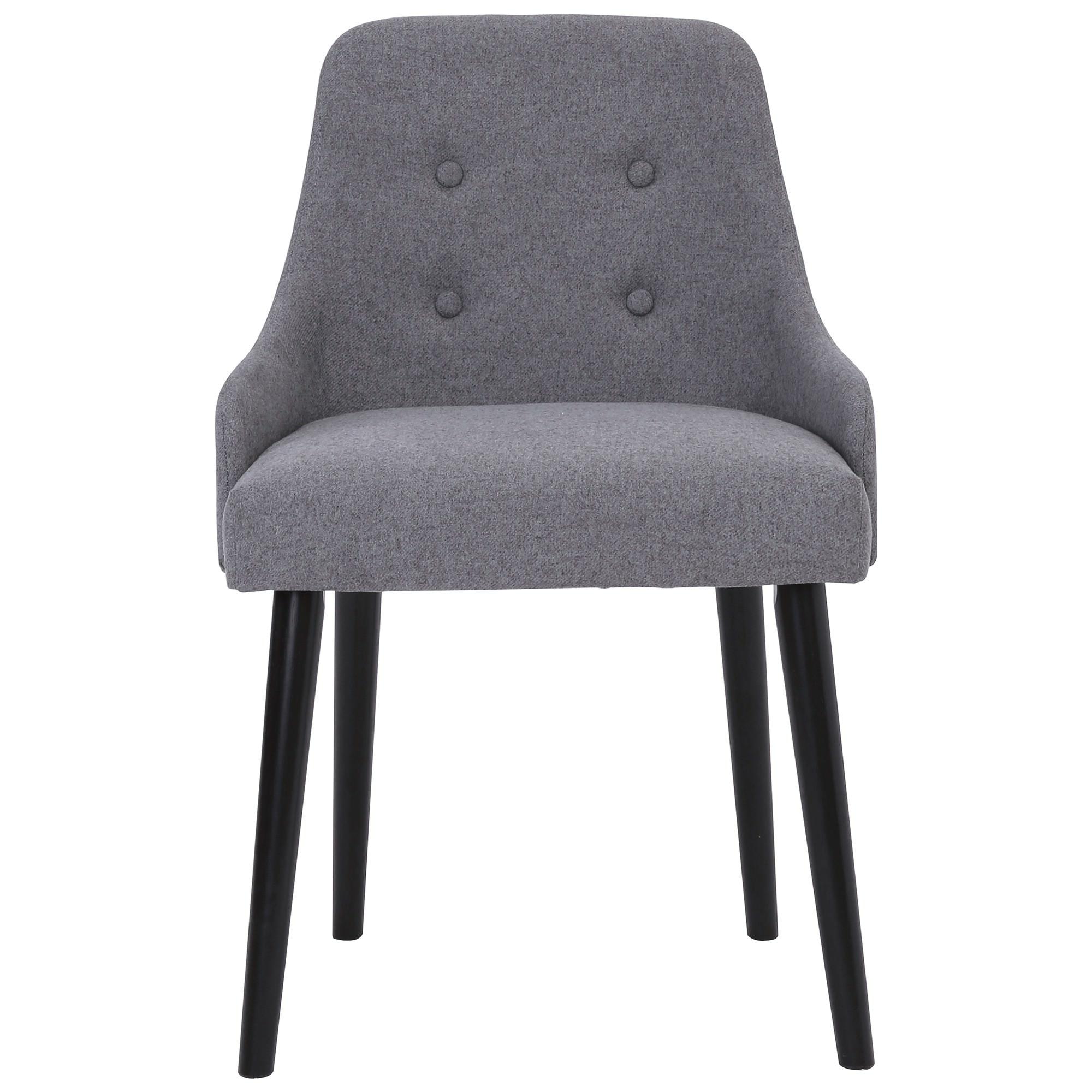 Caitlin Fabric Dining Chair, Grey