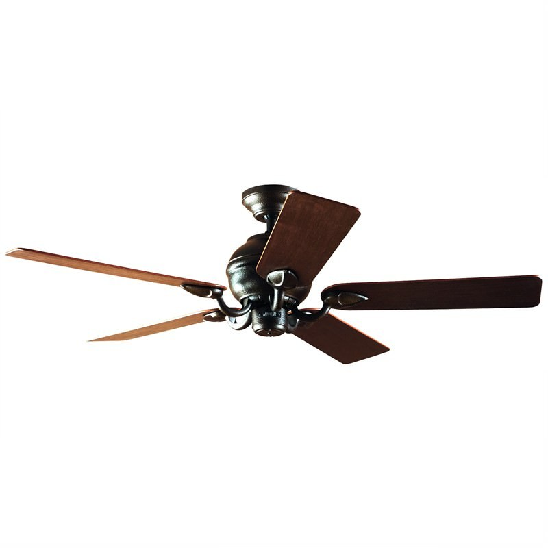 Hunter Salinas Commercial Grade Traditional Hammered Bronze Ceiling Fan - Sawala Blades