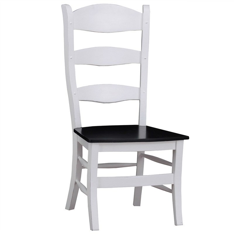 Chamoux Solid Mahogany Timbe Ladder Back Dining Chair