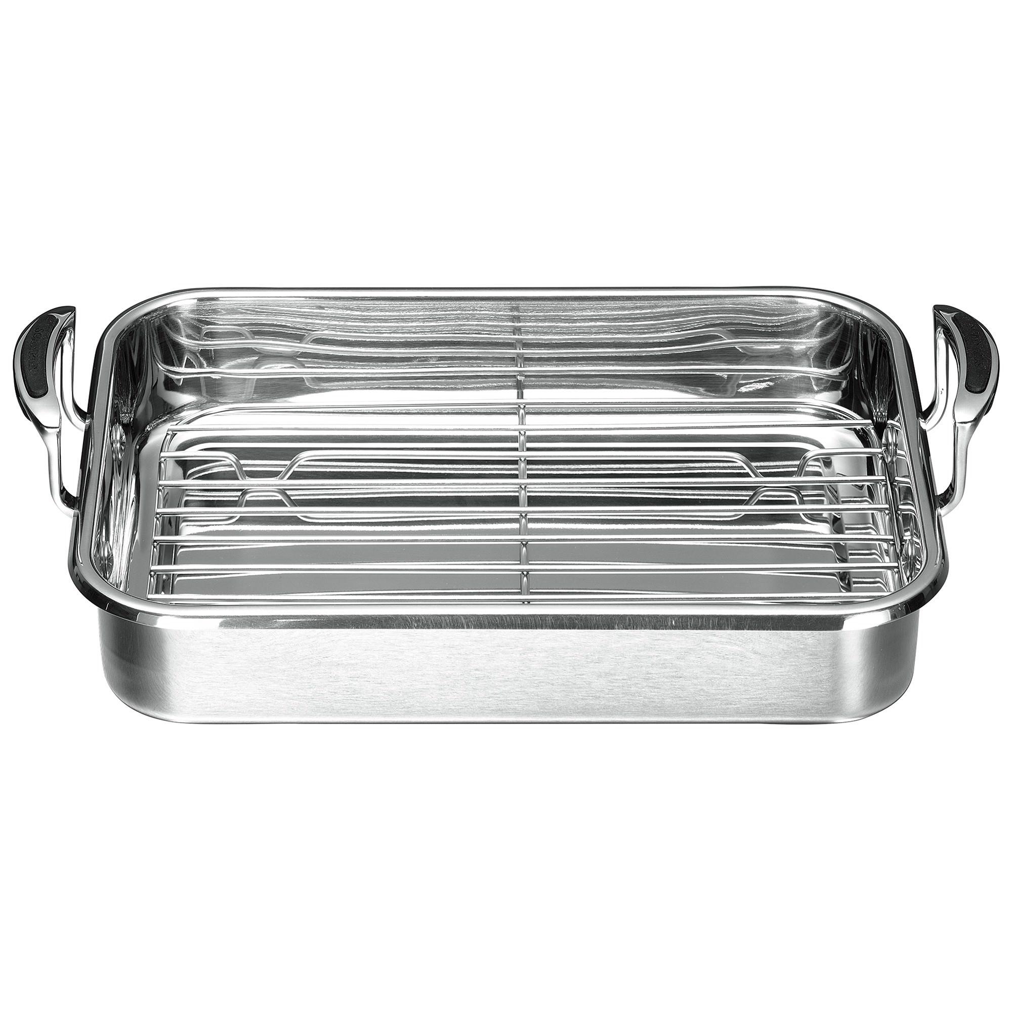 Scanpan Coppernox Roasting Pan with Rack, 33x24cm