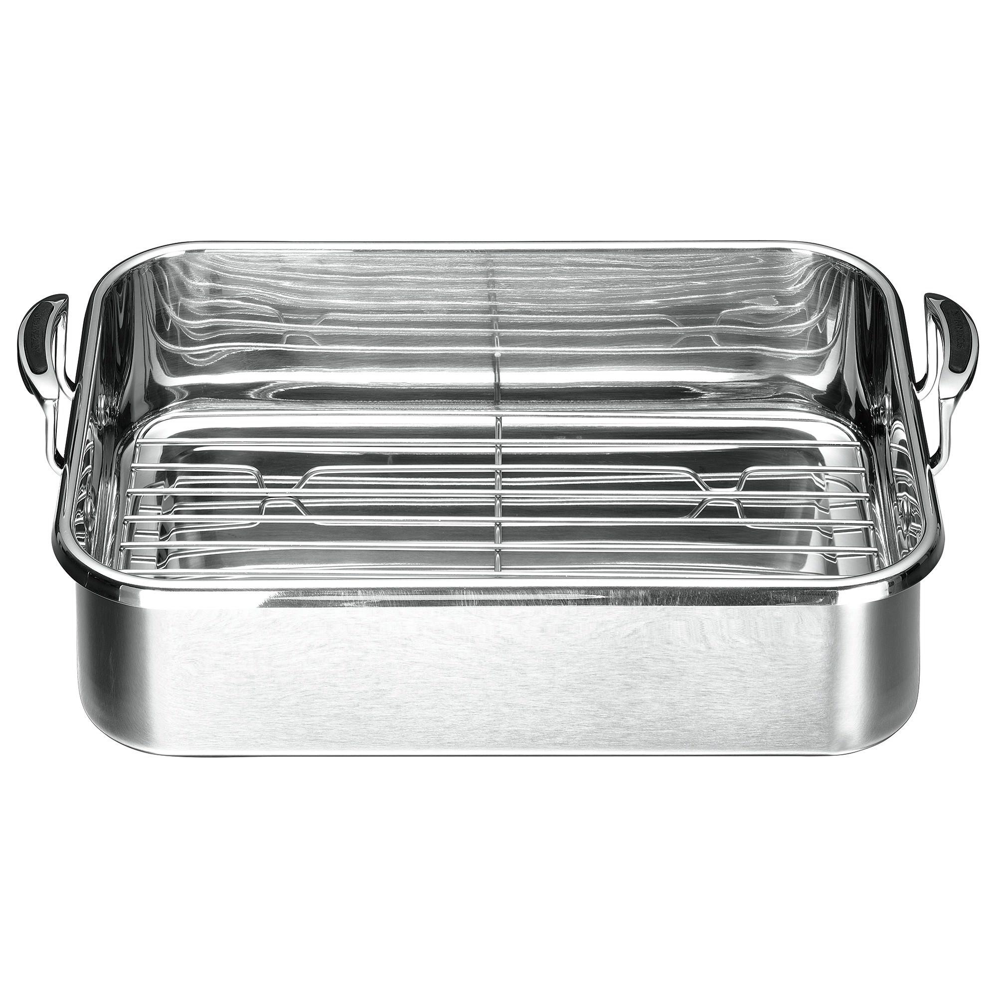 Scanpan Coppernox Roasting Pan with Rack, 40x29cm