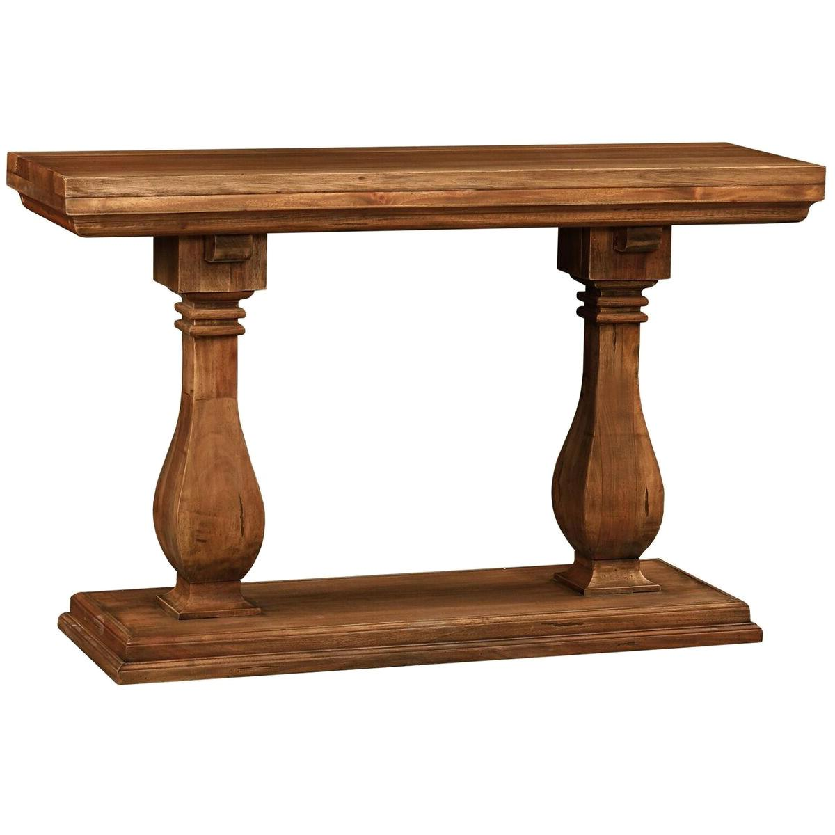 Kellaways Mahogany Timber Console Table, 122cm, Antique French Oak