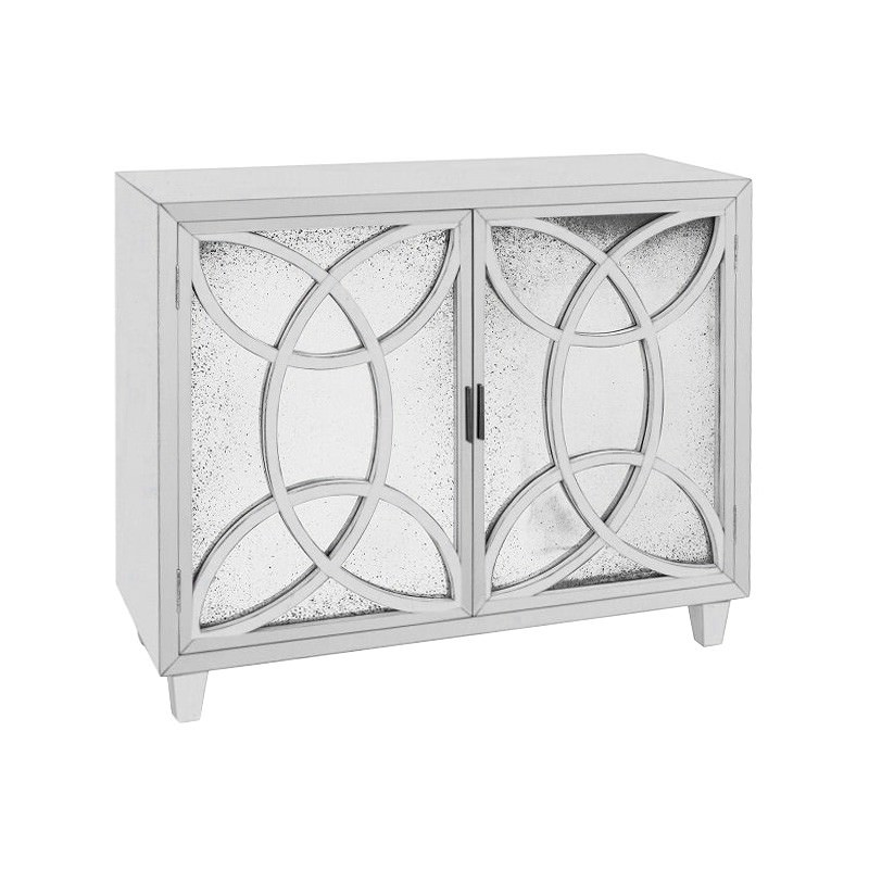Lucida Mahogany Timber 2 Door Sideboard, 100cm, White
