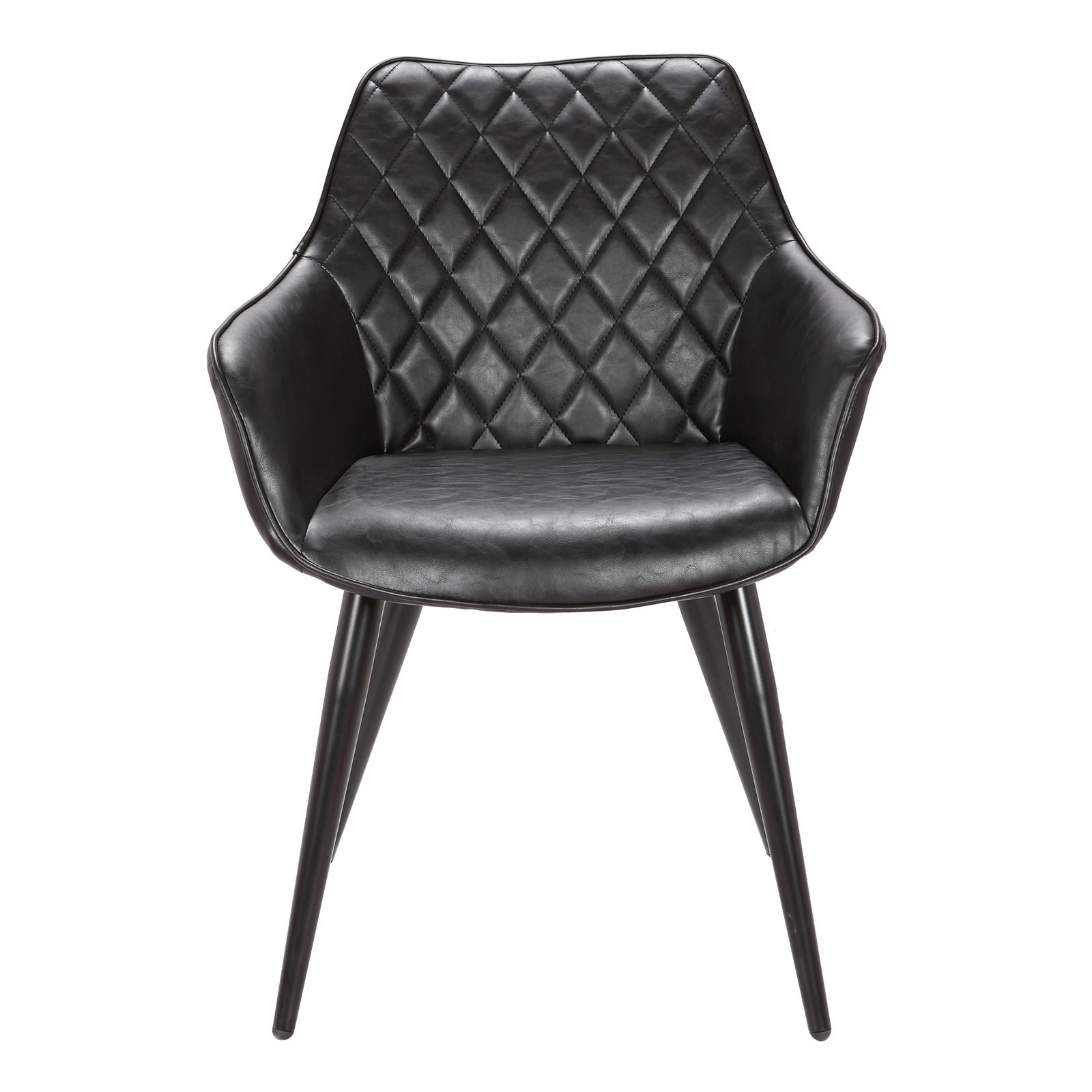 Toulouse Commercial Grade Faux Leather Dining Armchair, Black