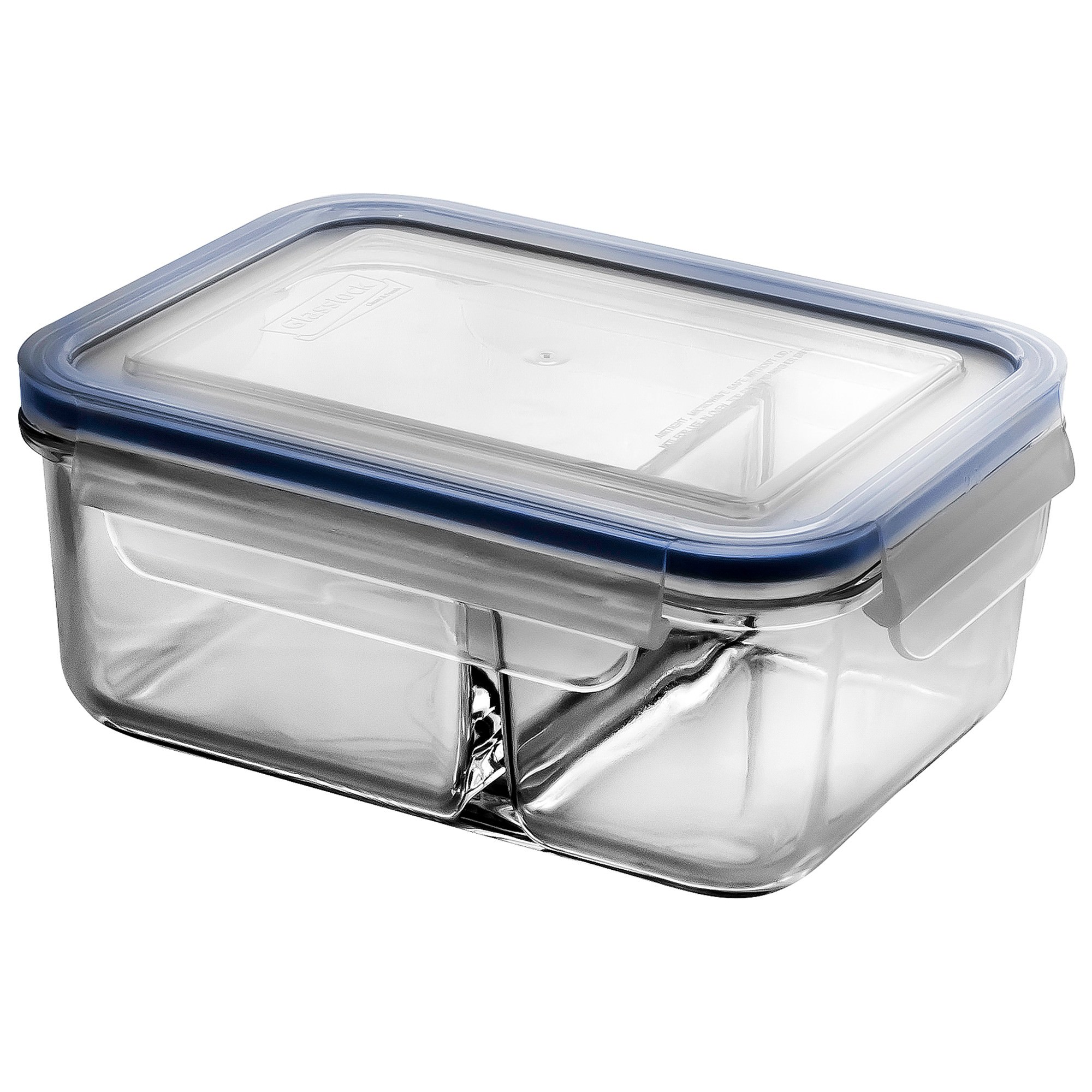 Glasslock Classic DUO Tempered Glass Rectangle Container, 1000ml