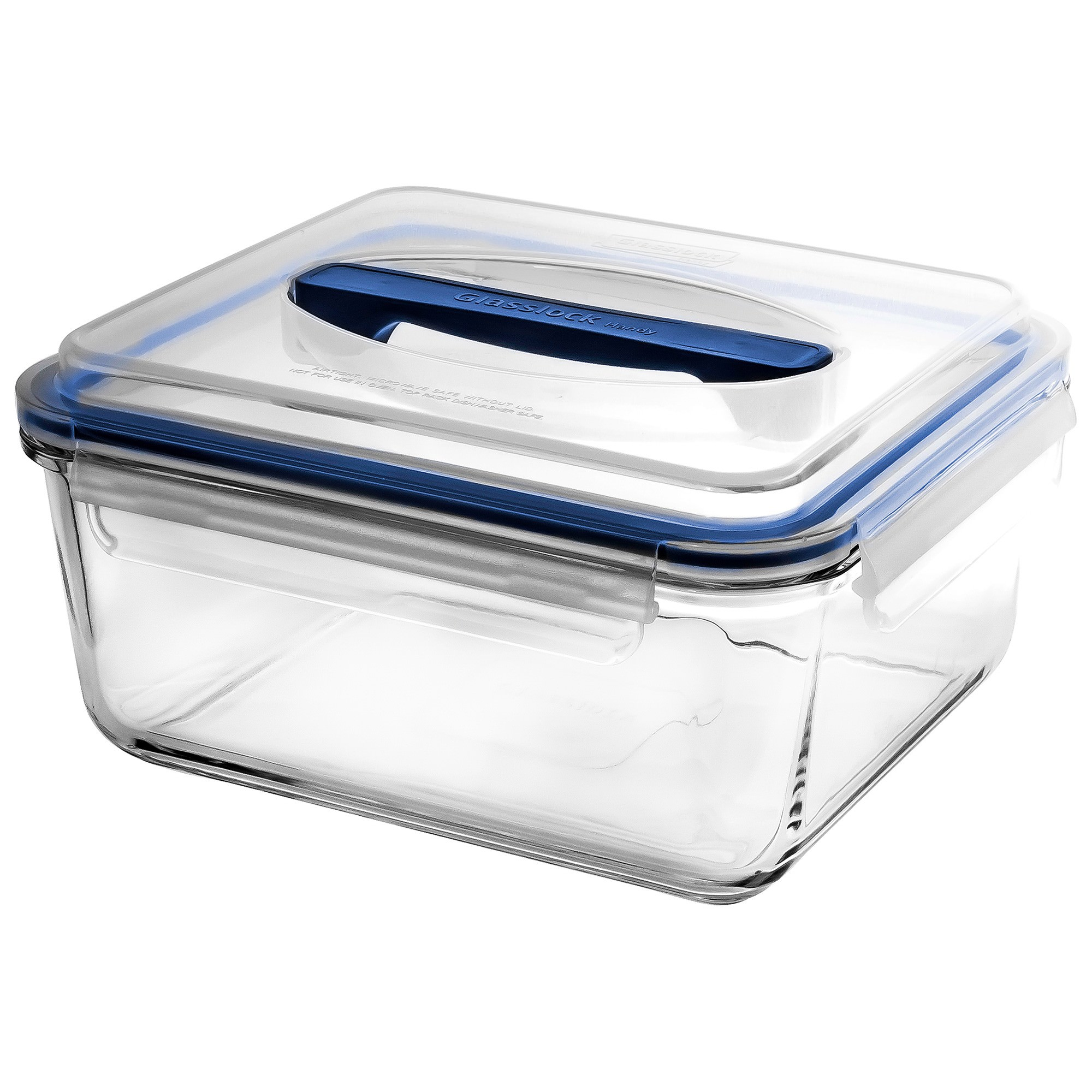 Glasslock Handy Tempered Glass Rectangle Container, 2700ml