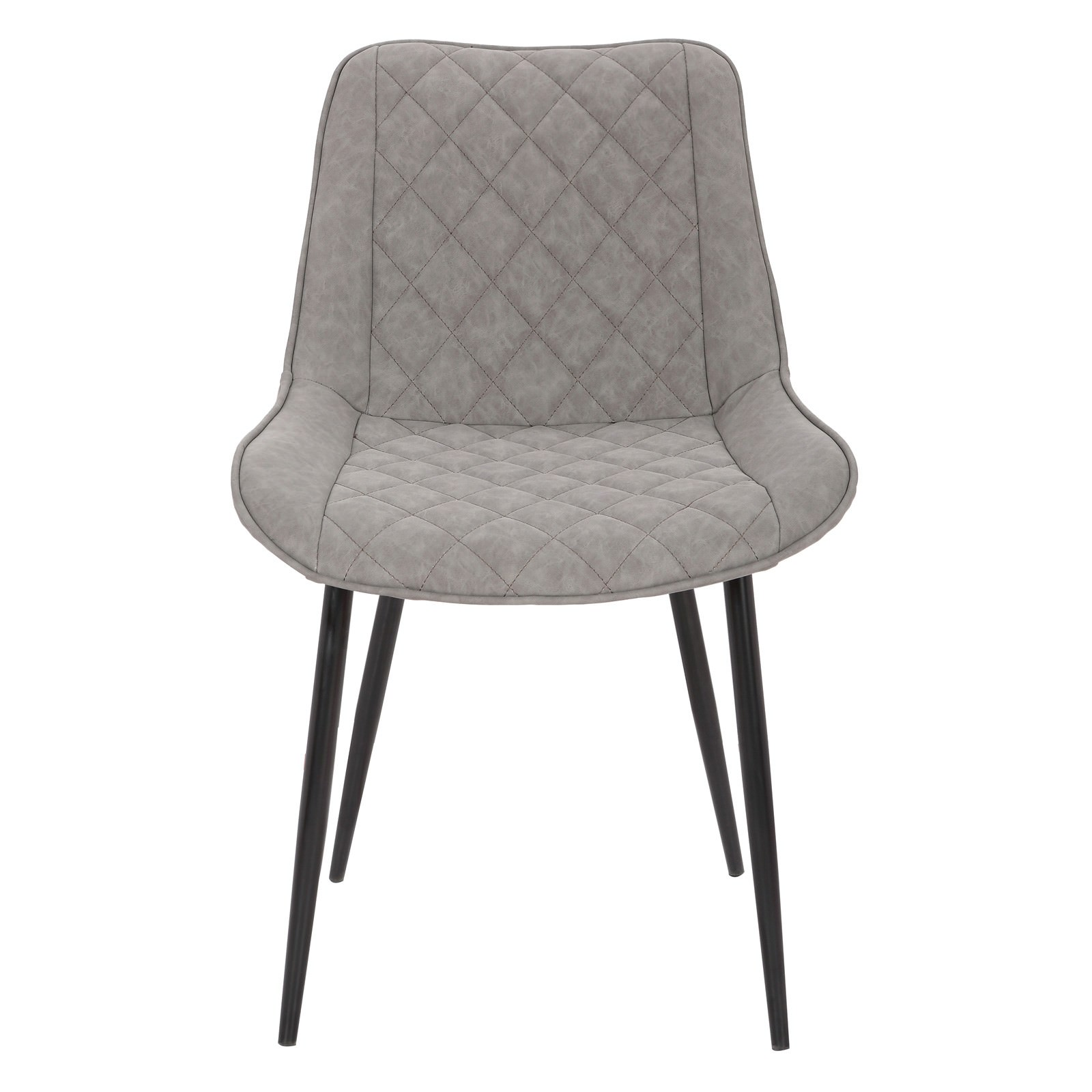 Lyon Commercial Grade Faux Leather Dining Armchair, Grey