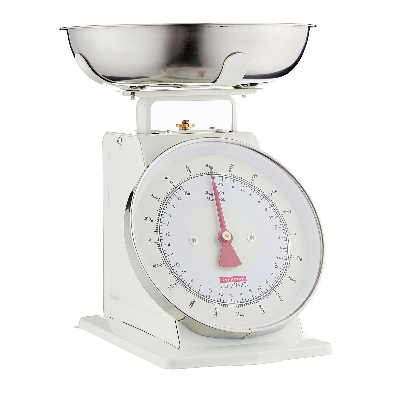 Typhoon Living Retro Kitchen Scale, Cream