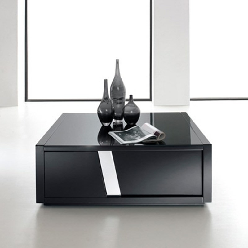 Massari High Gloss Black Coffee Table - 100cm