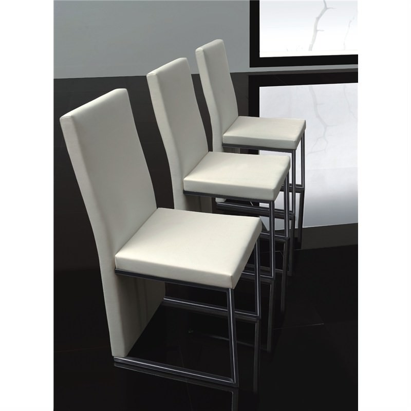 Monza PU Leather Dining Chair - White
