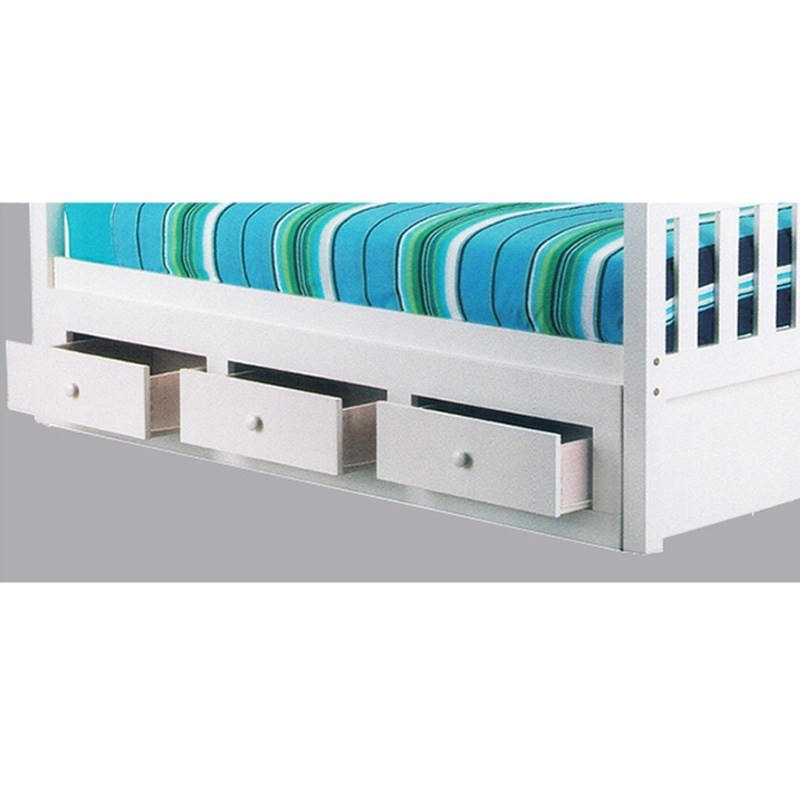 3 Drawer Underbed Storage Unit in Arctic White - Single Size