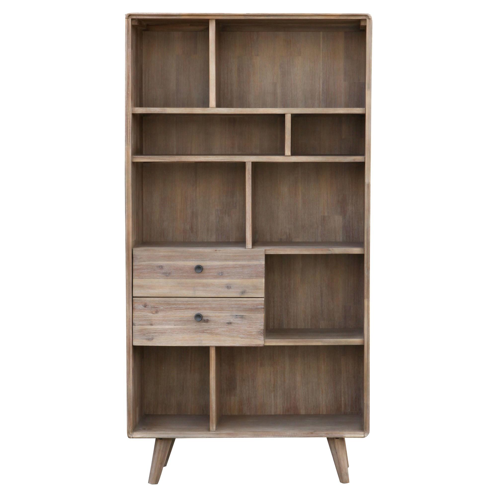 Vasto Acacia Timber Bookcase