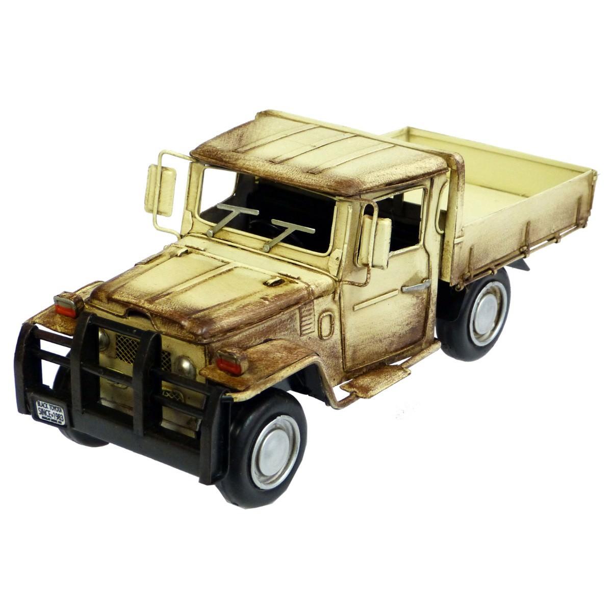 Boutica Handmade Tin Toyota Land Cruiser Pickup Model