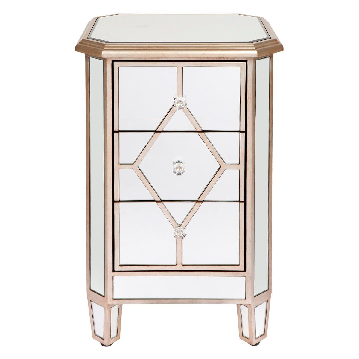 Kensington Mirrored Bedside Table