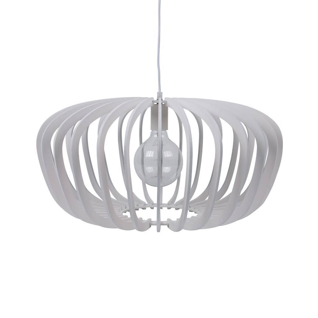 Robin Timber Pendant Light, 60cm, White