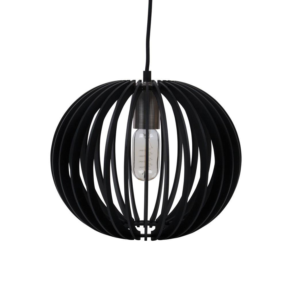 Puffin Timer Pendant Light, 30cm, Black