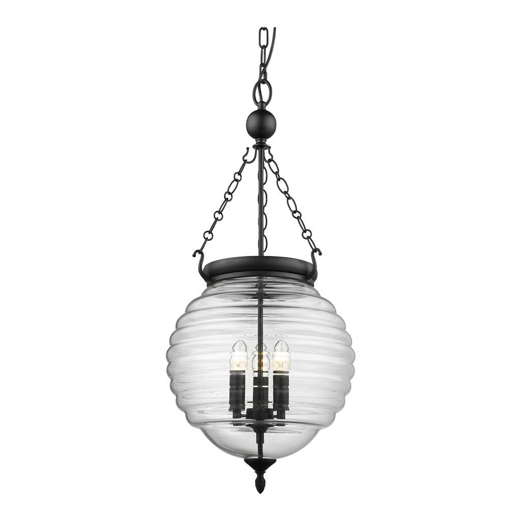 Image of: Erin Glass Lantern Pendant Light