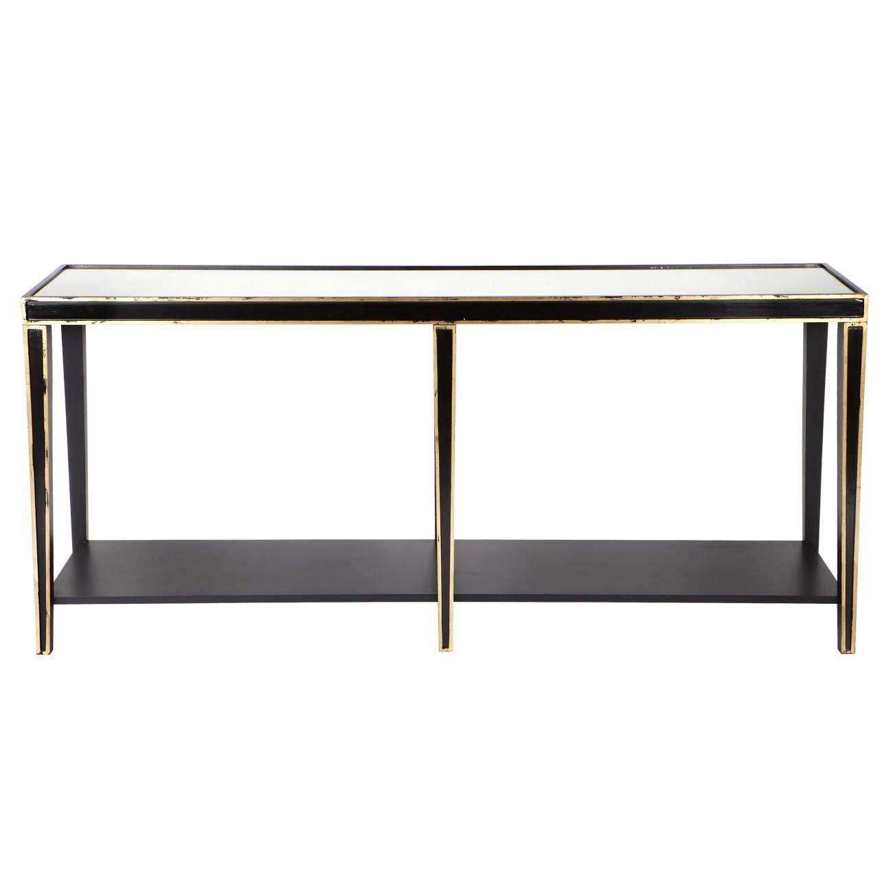 Alexa Mirror Top Wooden Console Table, 180cm