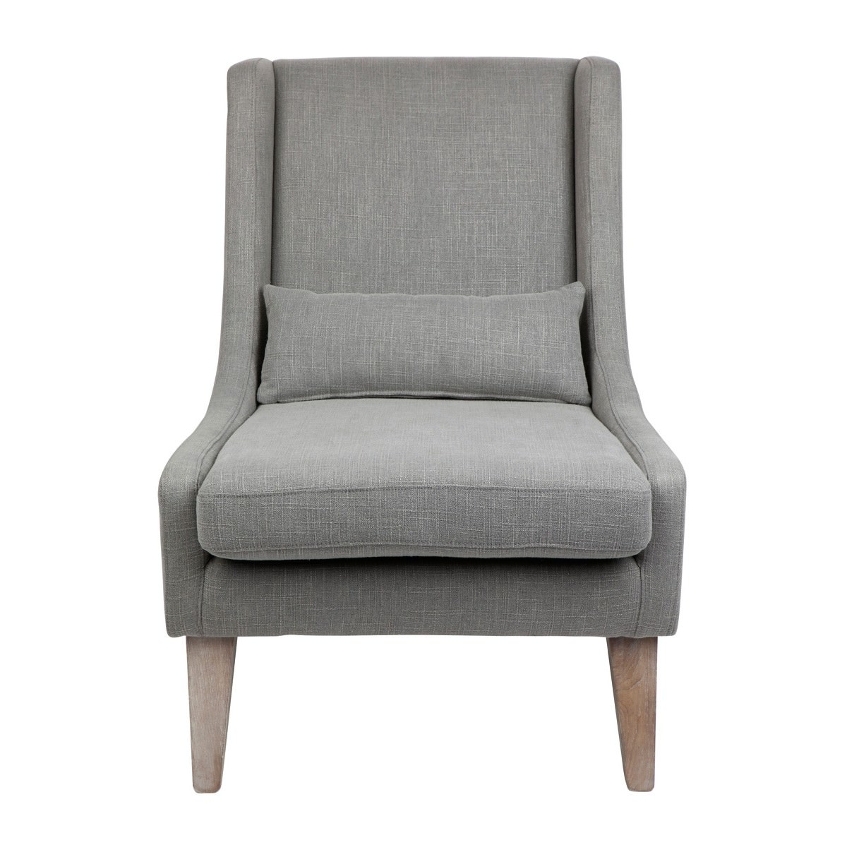 Hampton Fabric Lounge Armchair, Grey