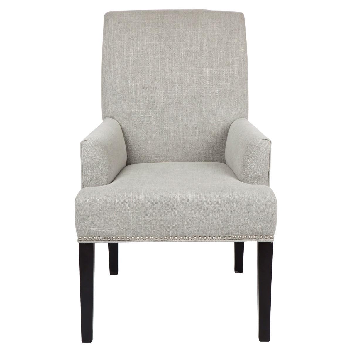 Bentley Fabric Dining Armchair, Grey
