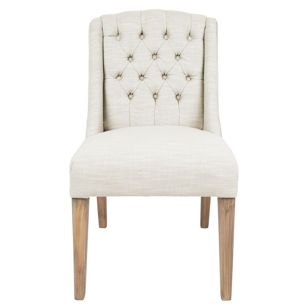 Montauk Fabric Dining Chair, Light Beige