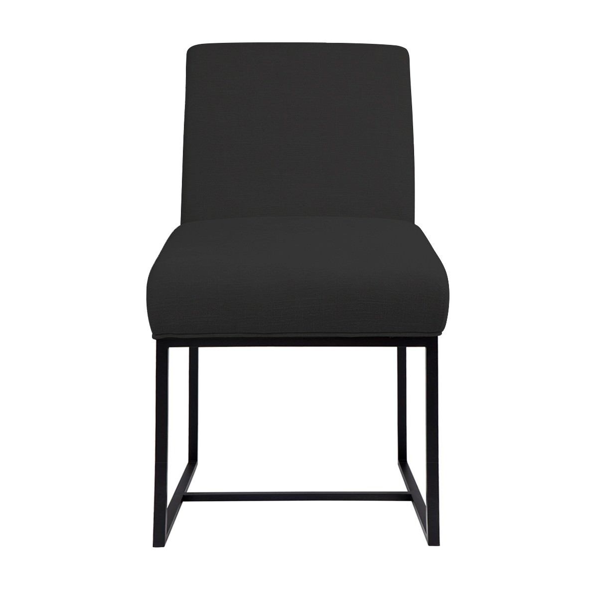 Cannes Fabric Dining Chair, Charcoal