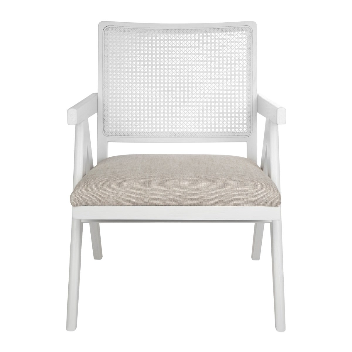 The Imperial Oak Timber Armchair, White