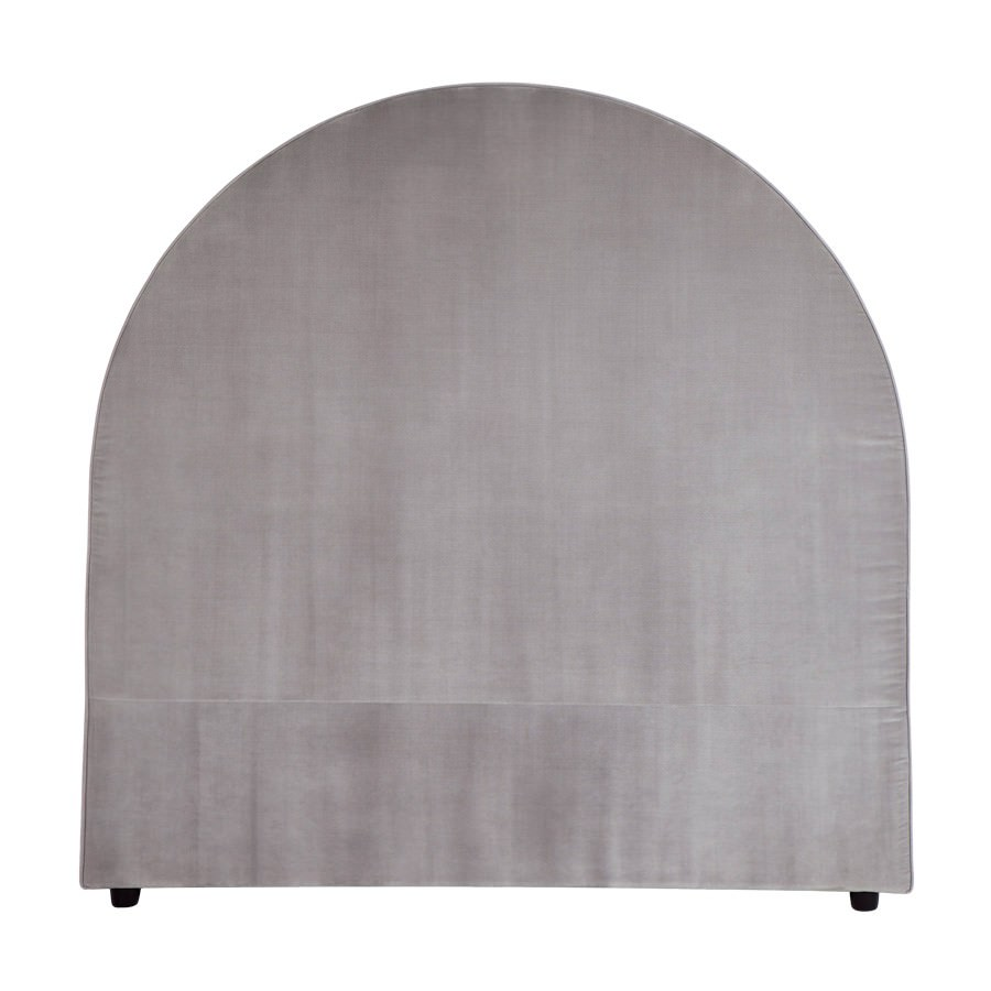 Dover Fabric Arched Bed Headboard, Queen, Grey