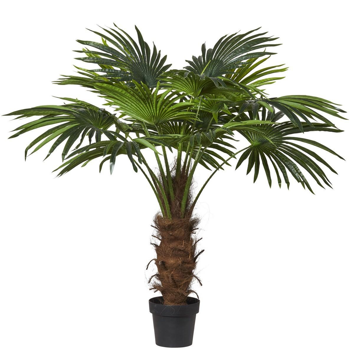 Potted Artificial Fan Palm, 120cm