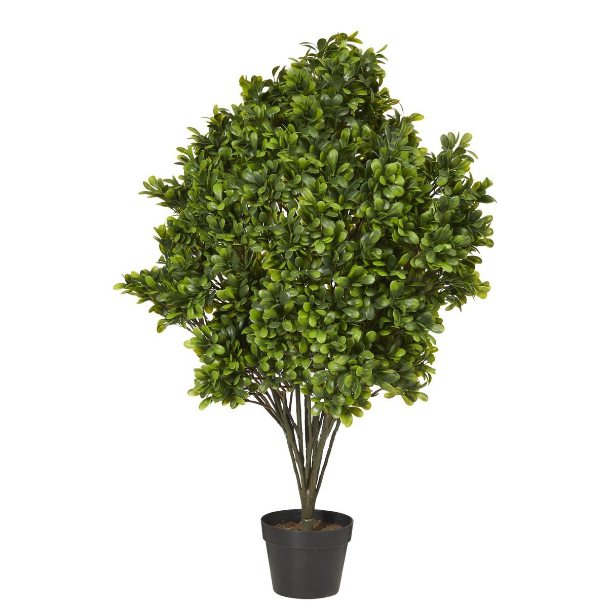 Potted Artificial Boxwood Tree, 107cm