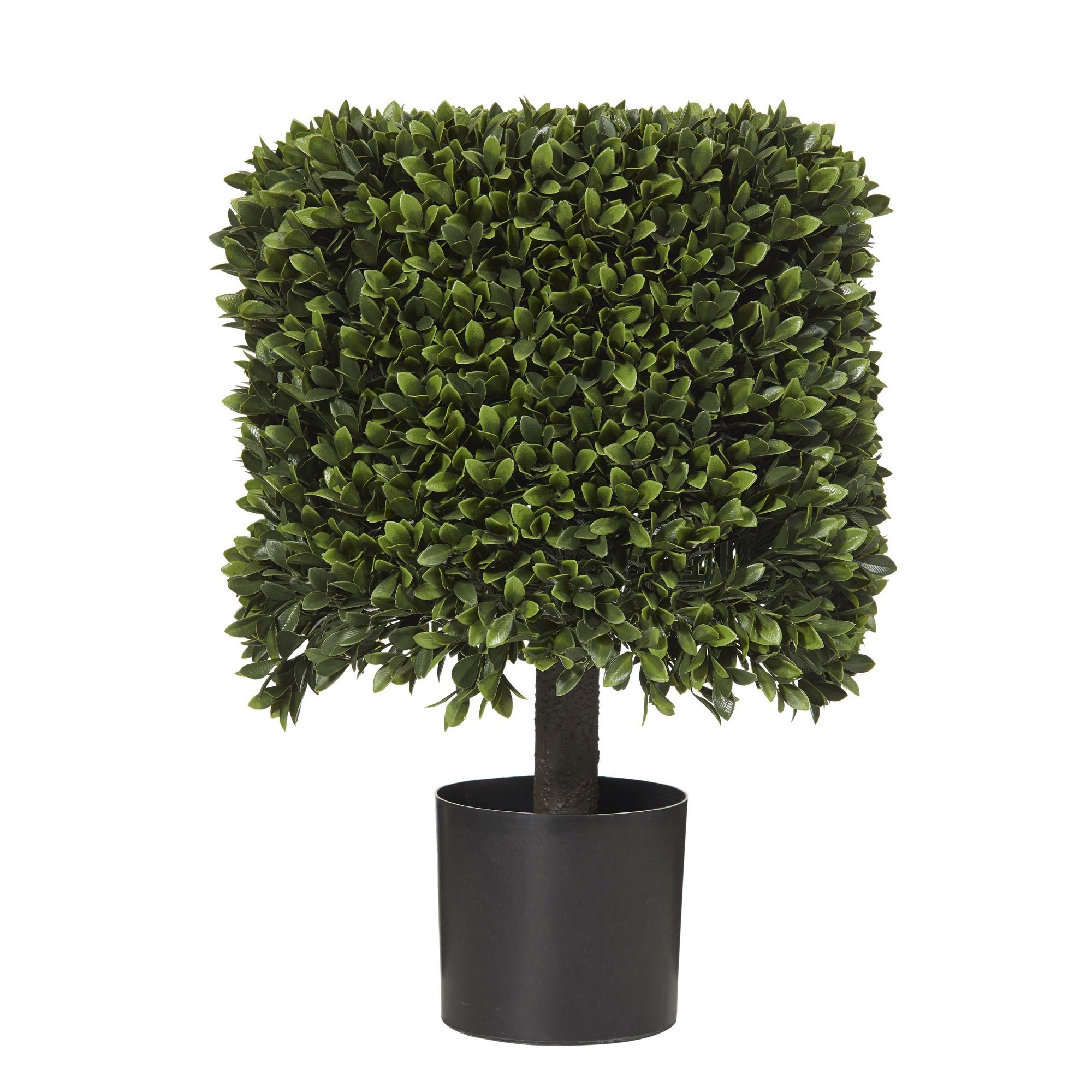 Potted Artificial Box Leaf Hedge Topiary, 58cm