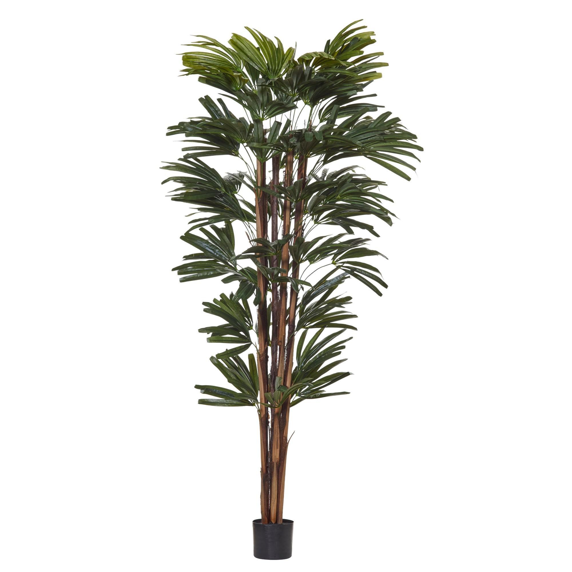 Potted Artificial Rhapis Palm Tree, 180cm