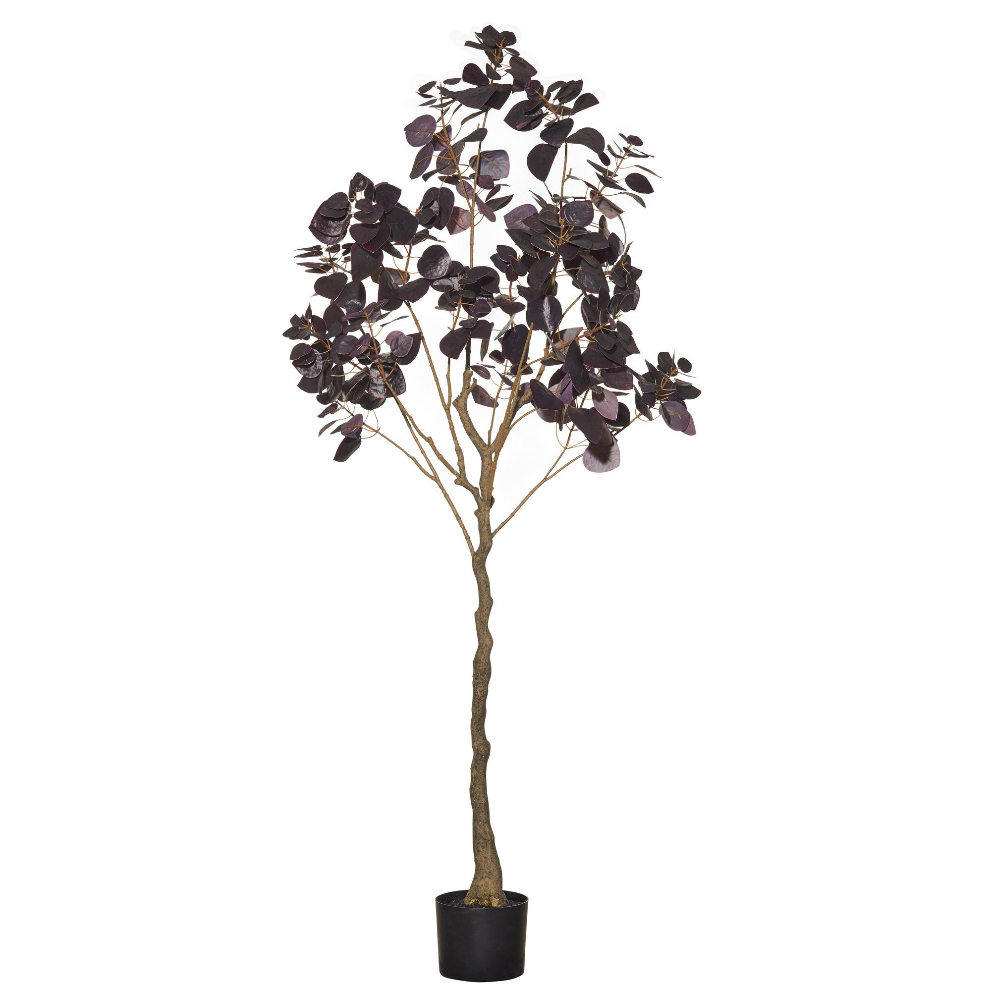 Potted Artificial Smoke Leaf Tree, 180cm