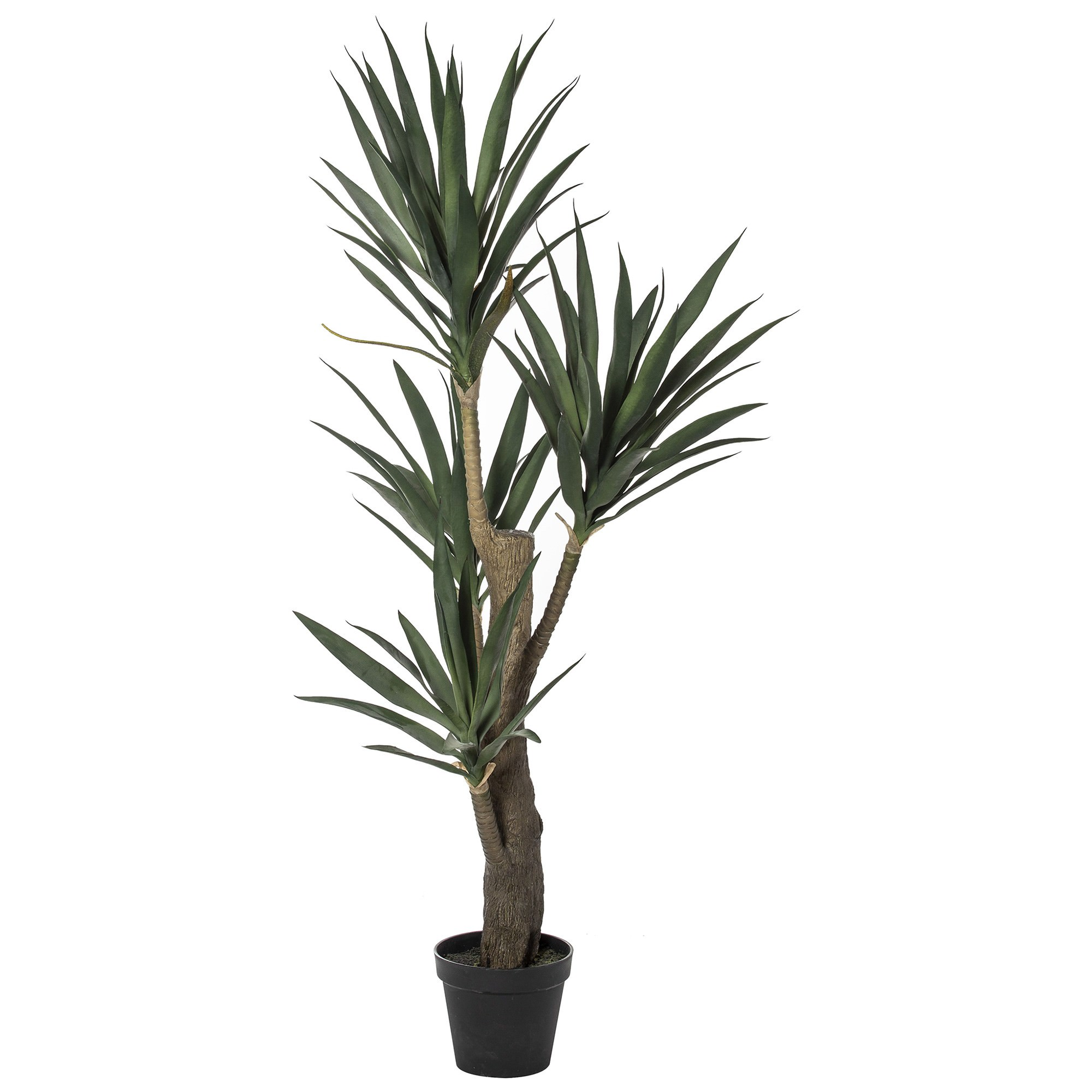 Potted Artificial Dragon Tree, 152cm