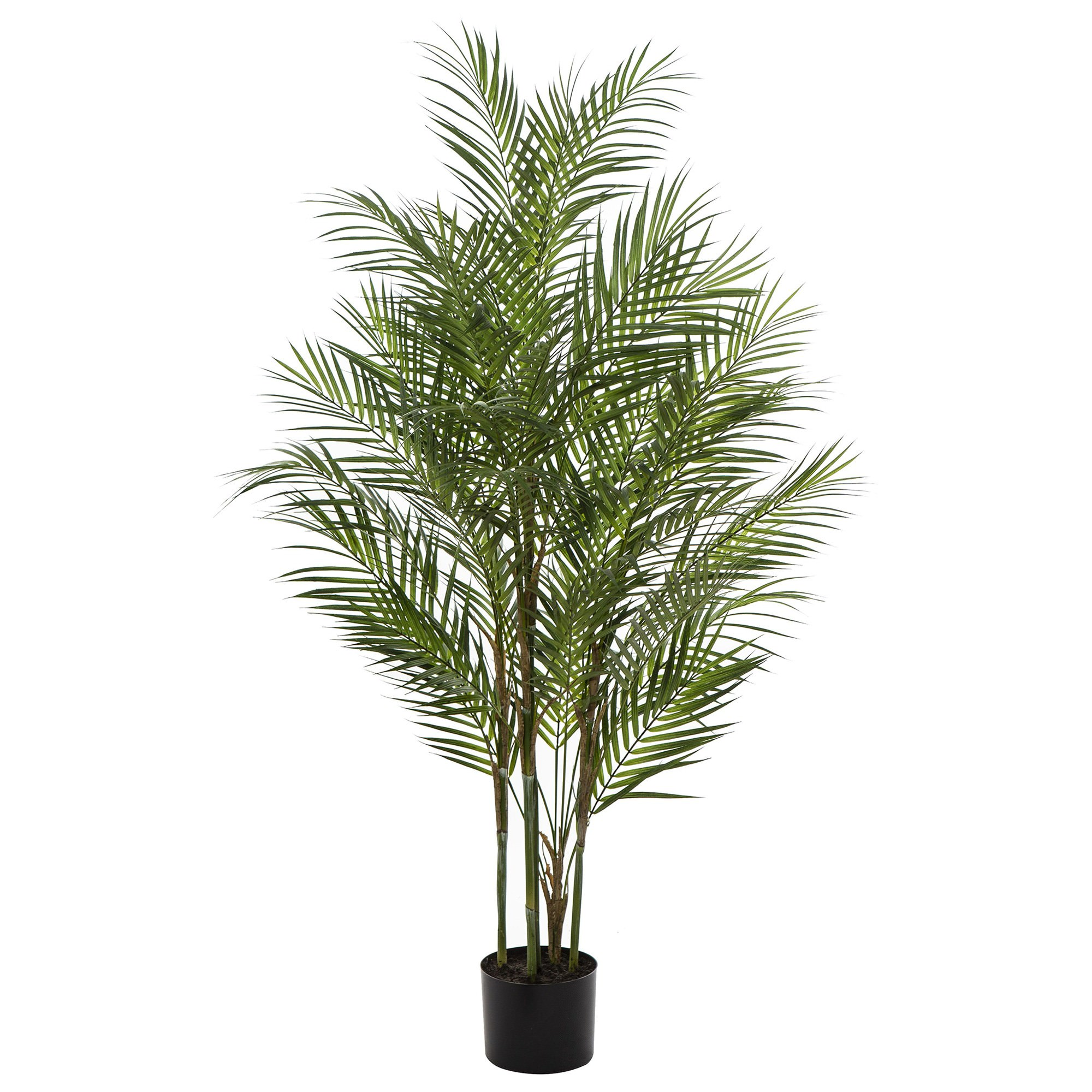 Potted Artificial Phoenix Palm Tree, 122cm