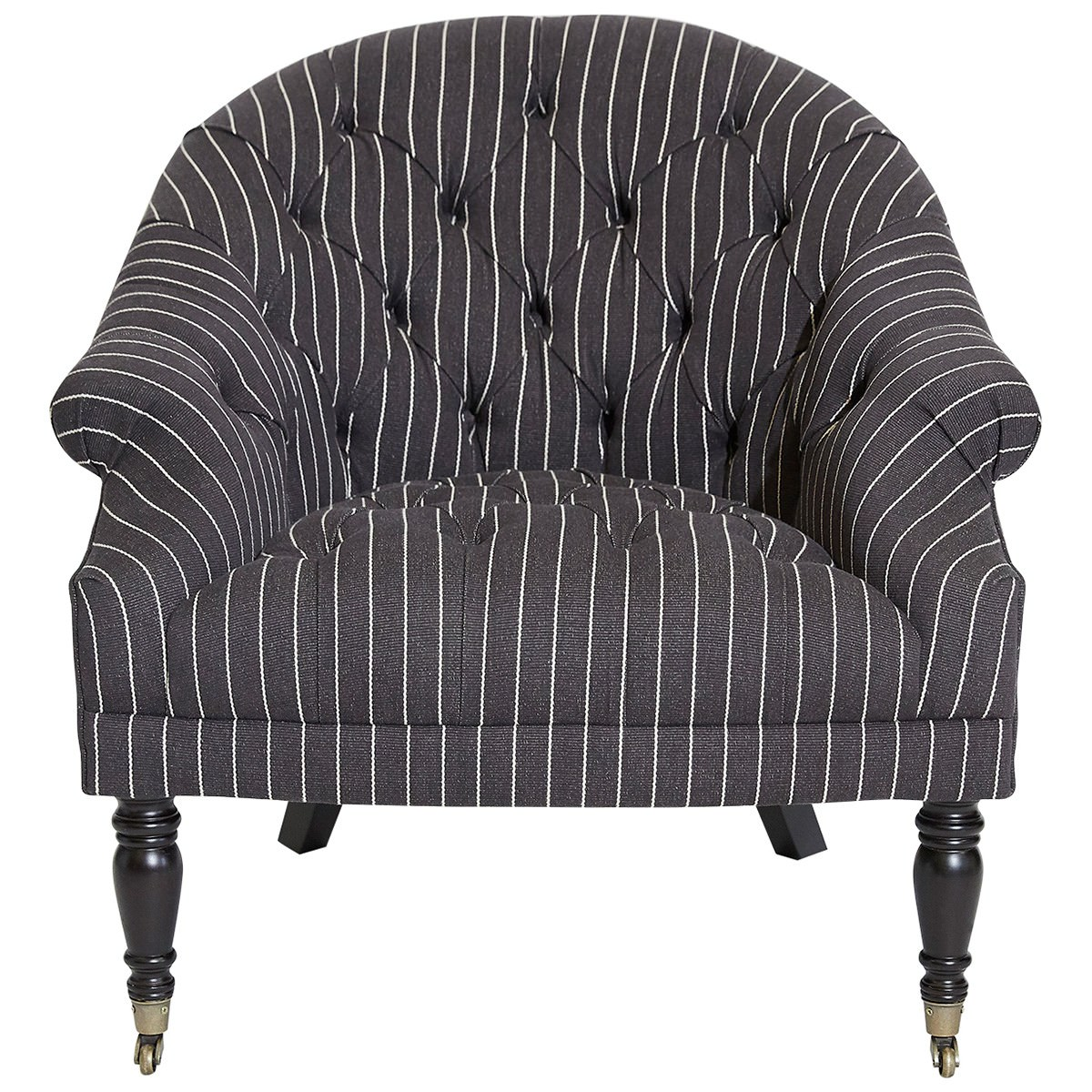 Leura Fabric Armchair with Castors