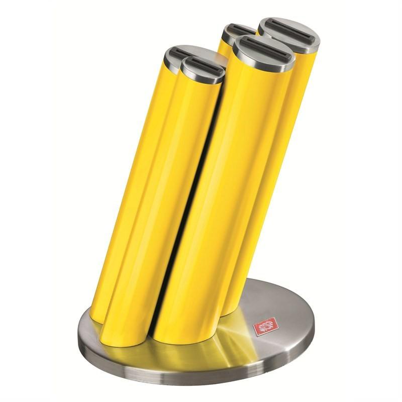 Wesco Stainless Steel Knife Pipe Set, Lemon Yellow