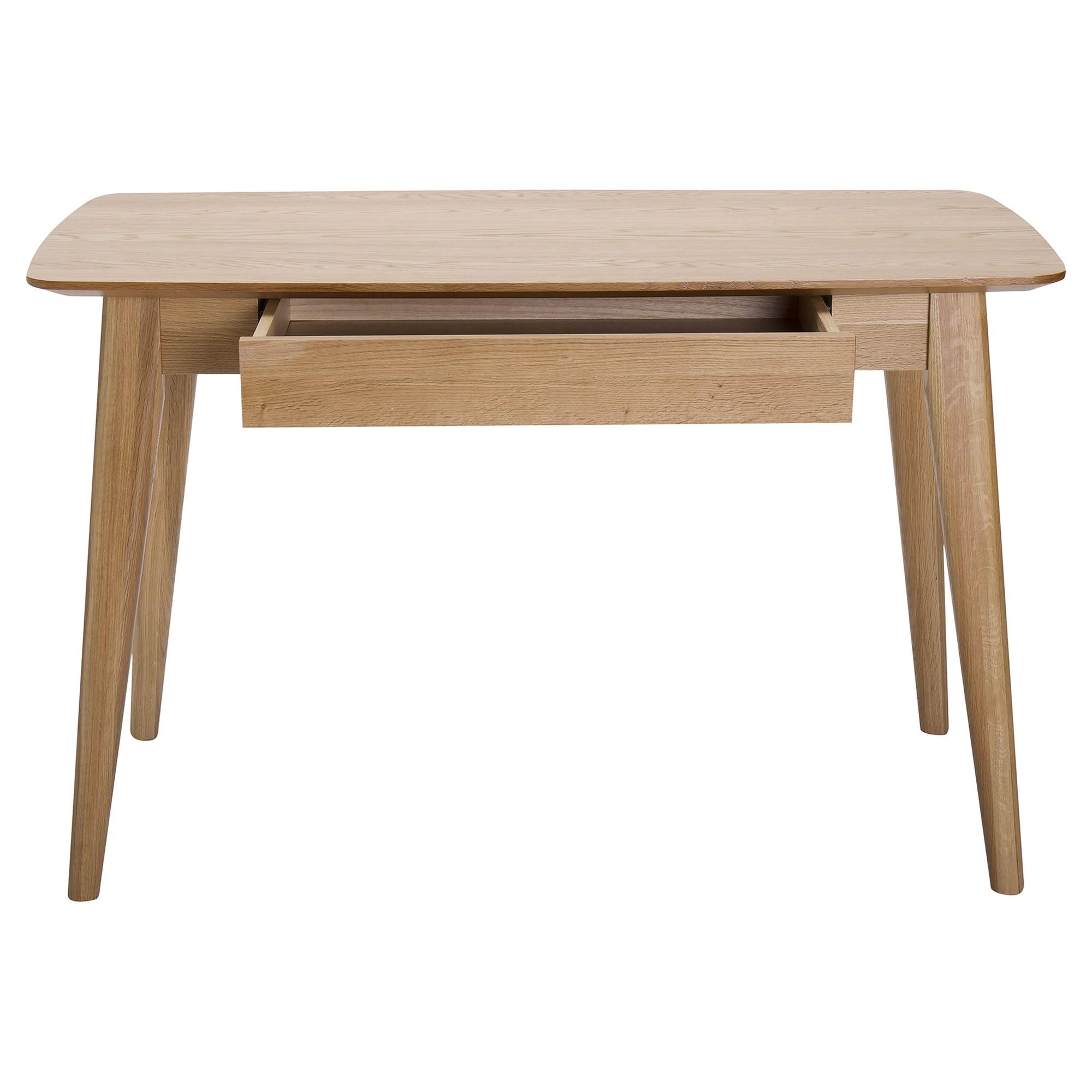 Jarel Oak Timber Writing Desk, 120cm