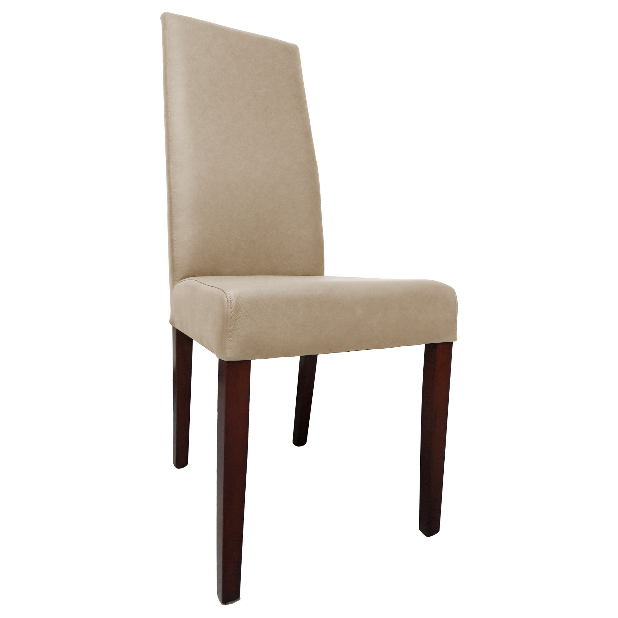 Wyatt Leather Dining Chair, Taupe