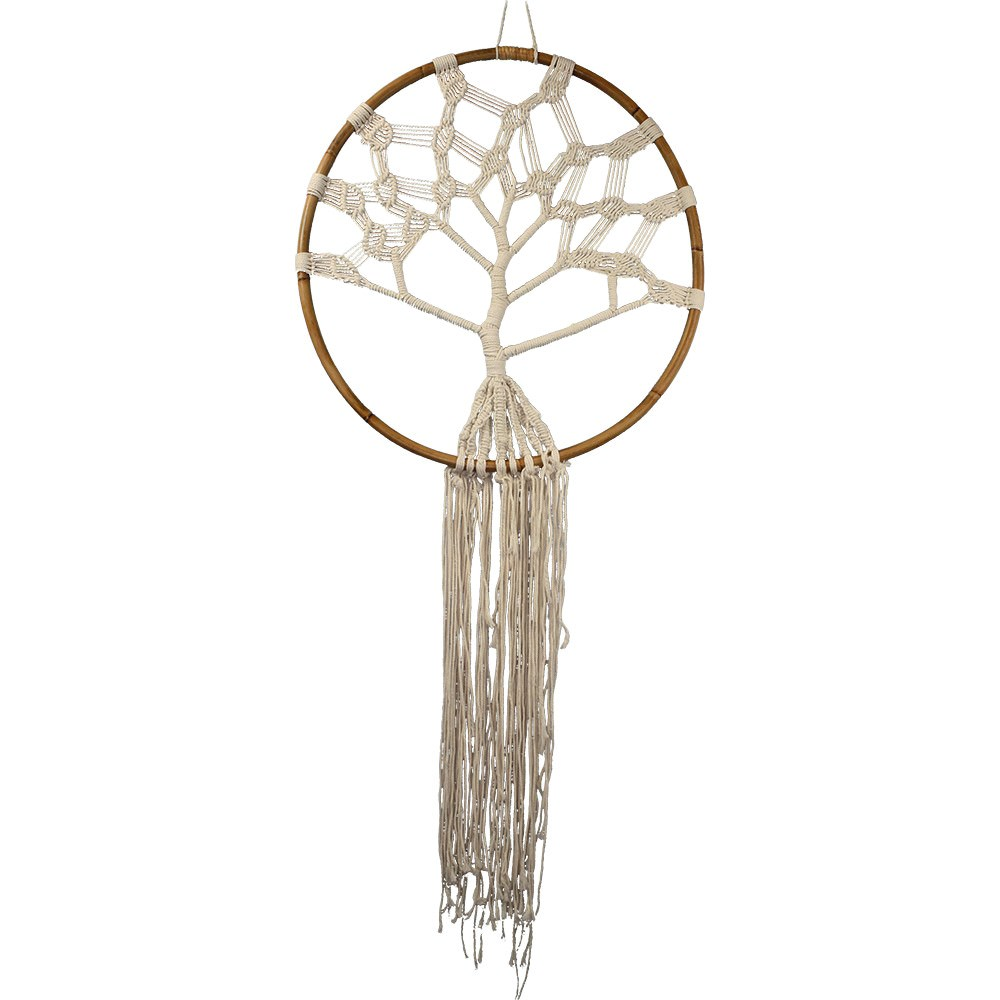 Macrame Tree Of Life With Bamboo Ring Wall Decor Extra Large