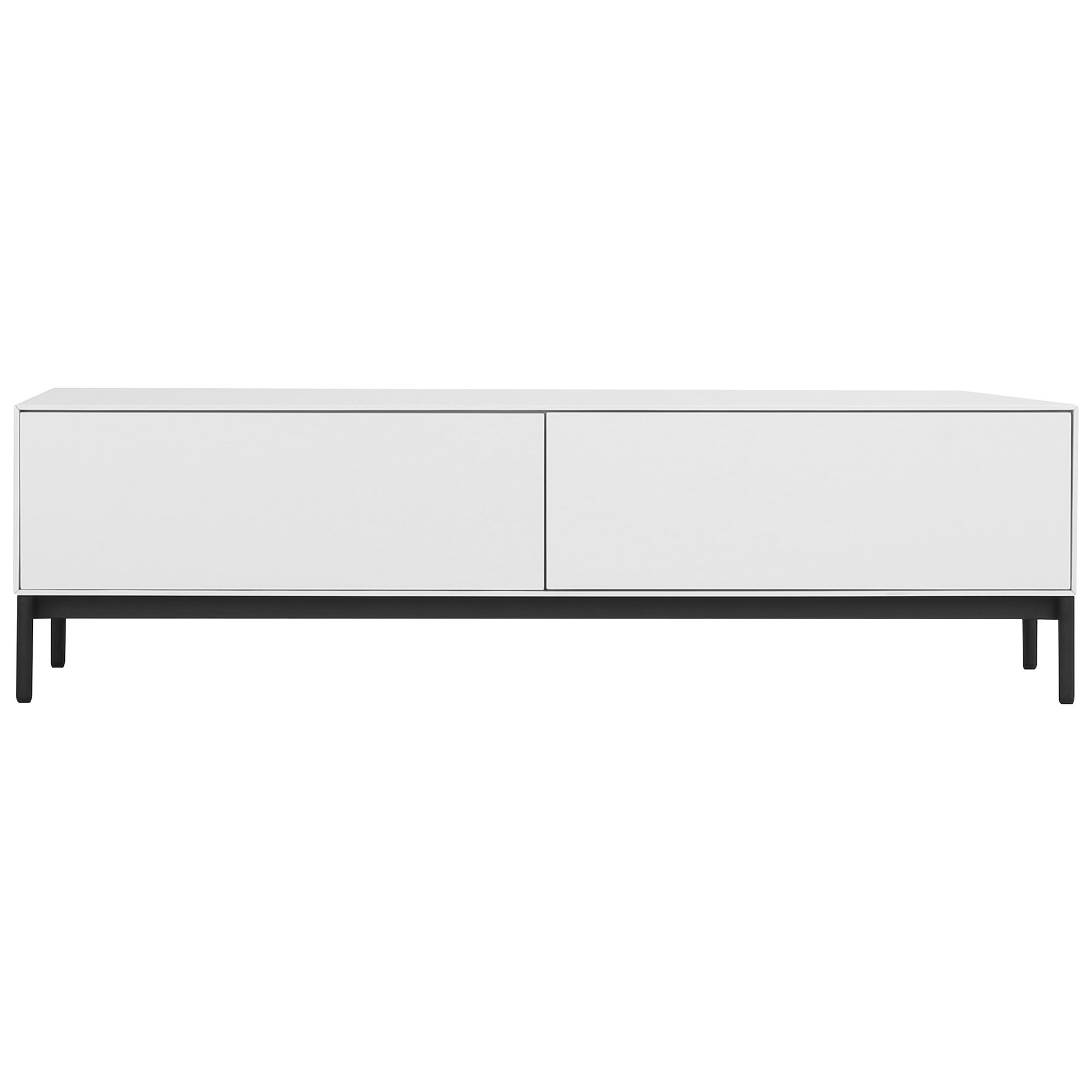 Lowell 2 Drawer TV Unit, 120cm, White
