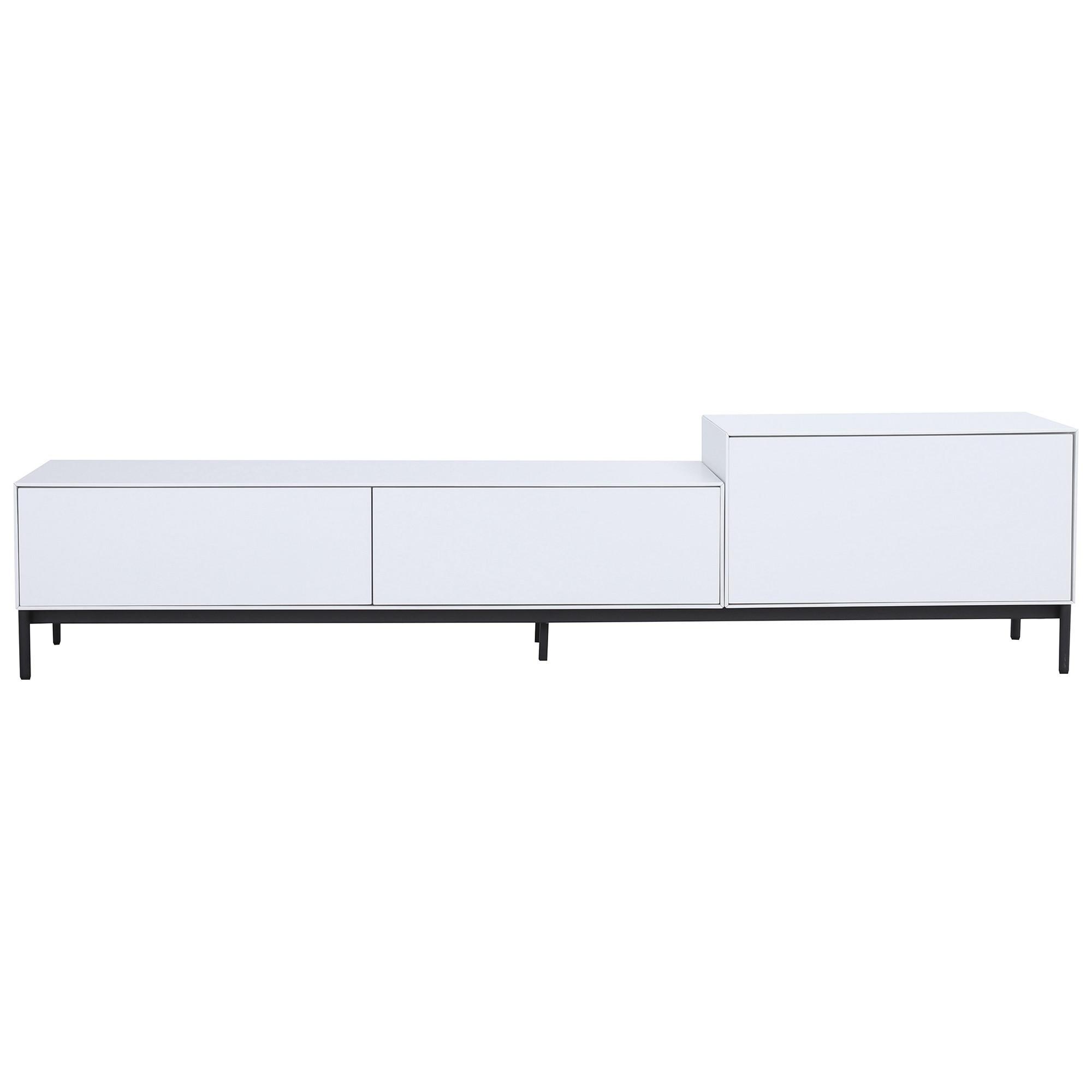 Lowell 3 Drawer TV Unit, 180cm, White