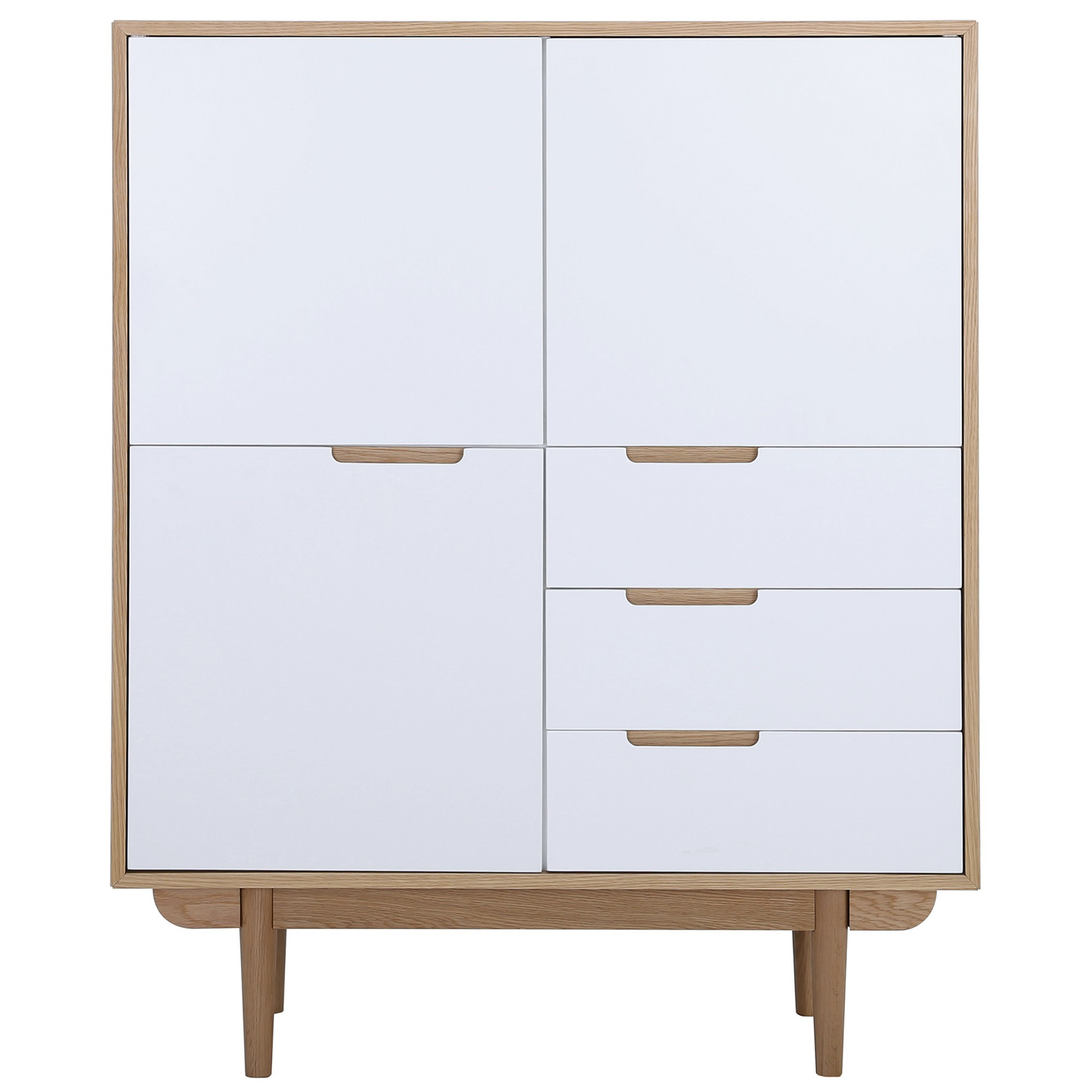 Nakula 2 Door 3 Drawer Cupboard, Natural / White
