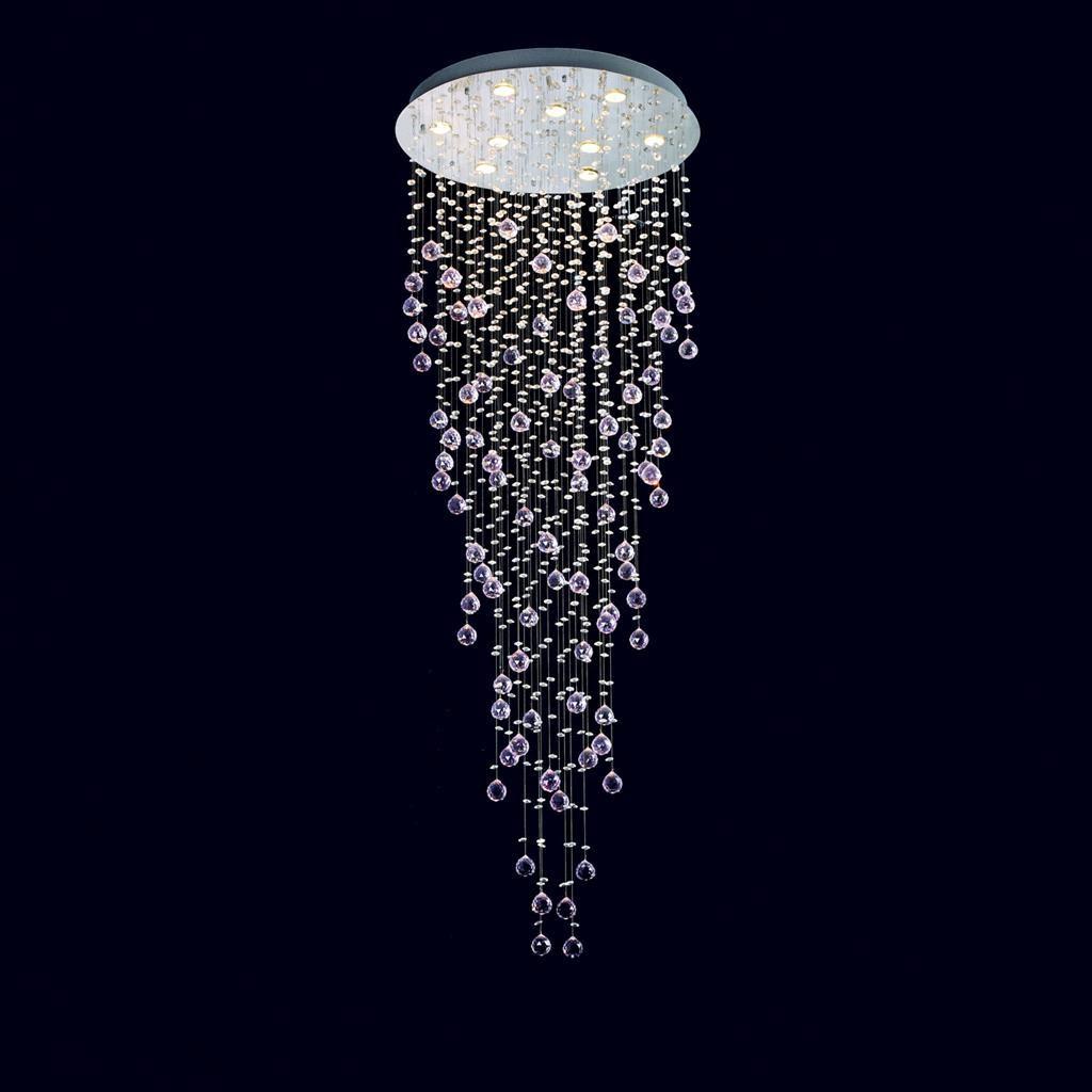 Snowdrop Crystal LED Ceiling Light, 66cm