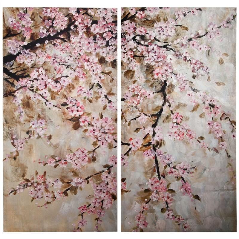 Set of 2 Blossom Wall Art